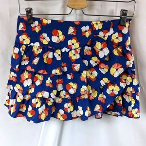 Tommy Girl Floral Tiered Ruffled Mini Skirt Sz XS